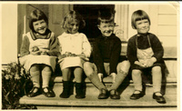 Carn's children, Greta, Pauline Tilly, David, Janet (1934)