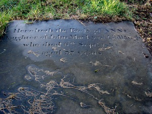 Drumhaggart gravestone of Anne Mackey