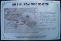 Plaque about the Bulli coal mine disaster