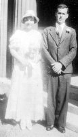 Wallace Armstrong Macky and Mary MacLean Whitfield wedding day, 7 Sep 1933