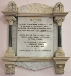 Samuel Cochrane memorial at Fahan Presbyterian Church